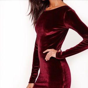 Vintage Moda Int'l Stretch Shift Velvet Dress S